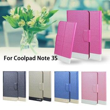 5 kolorów Hot! Coolpad Note 3 S skórzany futerał na telefon komórkowy, Factory Direct luksusowe pełne etui z klapką stań skórzane etui na telefony torby na portfele