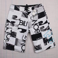 Plus Size Big 5XL Mens Shorts Surf Board Shorts Summer Sport Beach Homme Bermuda Short Quick Dry Silver Boardshorts 2016 New