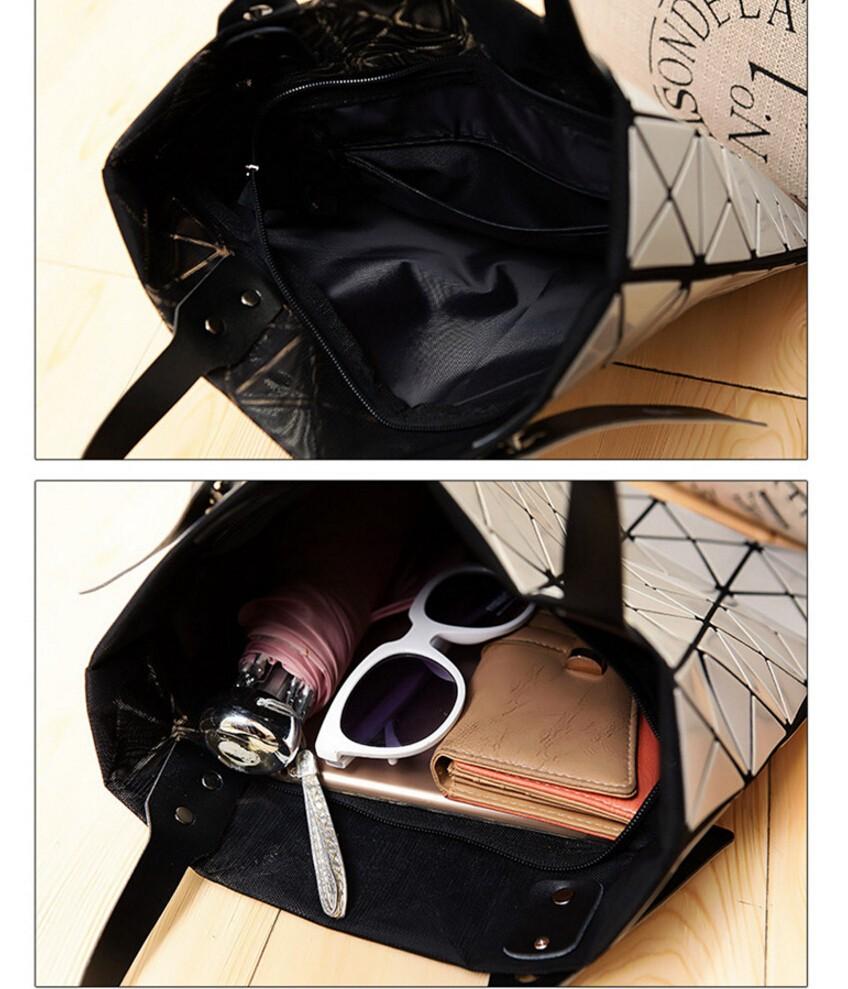 Moda feminina Pacote de Saco BAOBAO Issey Miyake Geometria suave ... cd09cdf1fc