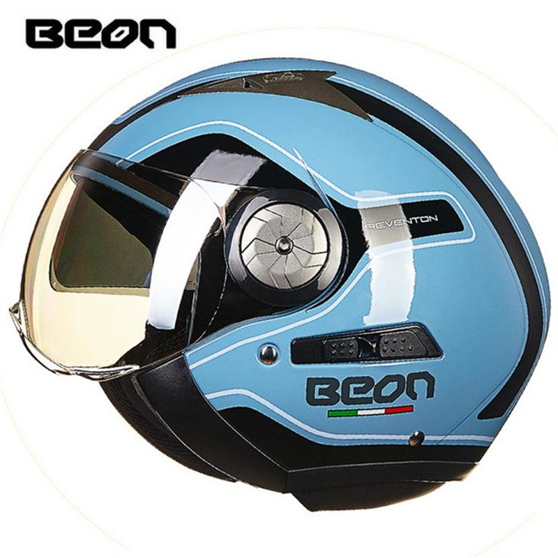 BEON fashion motorcycle helmet scooter helmet retro helmet double lens moto casco bjmoto motorcycle scooter backpack expandable helmet bag saddle luggage tail bag saddlebags helmet moto side bag 3colors