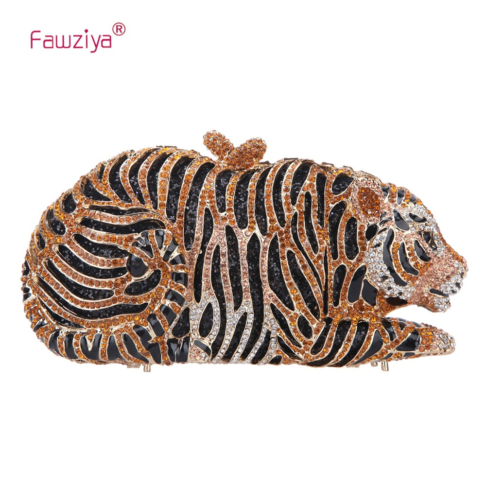 Fawziya Tiger Clutch Purse Bling Rhinestone Clutch Evening Bag слесарный молоток picard pi 00303120300