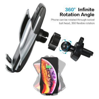 Automatic Clamping Car Phone Holder Wireless Charging Car charger Holder Mount Air Vent for iPhone Xs Max XR Samsung Fast Charg 1