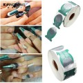 500pcs/roll Pro Green Horseshoe Shape Nail Art Tip Nails Extension Form Roll Acrylic Curve Gel Guide Stickers Free Shipping