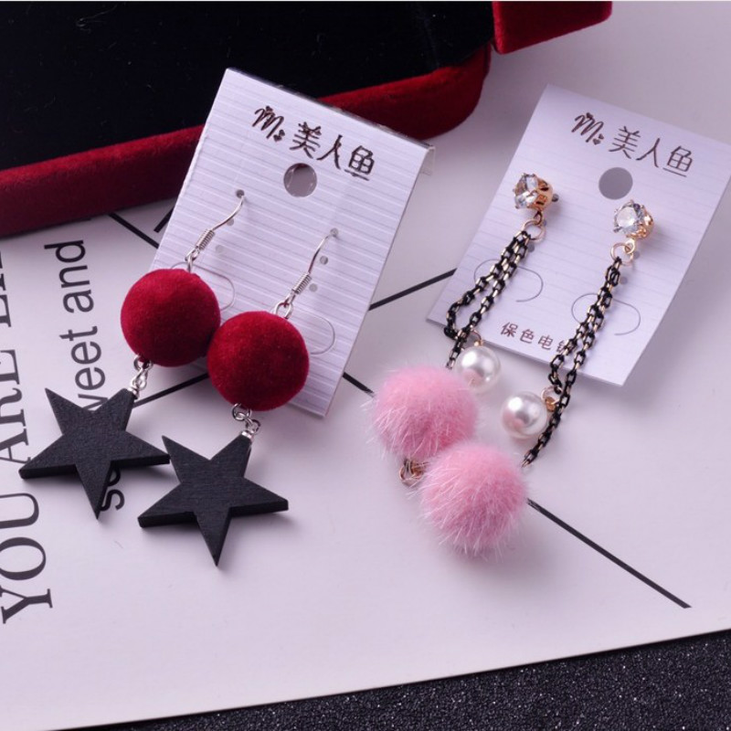 Wholesale 10/20/50 Pairs Mixed Lots Long Tassel Pom Pom Earrings Cute Brincos Geometric Pendientes Dangle Earrings Women Gift