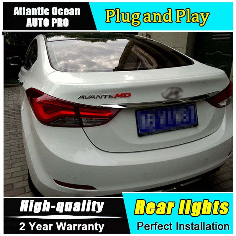 A&T Car Styling for Hyundai Elantra Taillights Korea Design New Elantra MD Tail Lamp Rear Lamp DRL+Brake+Park+Signal led lights ветровики korea hyundai elantra 2013 avante md 2013