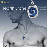 Personality 925 Silver Jewelry Hearthstone Necklace Round Blue/Purple Pendant for Men Boyfriend Gift