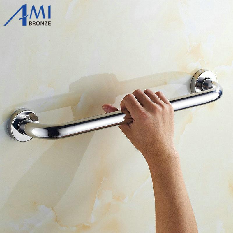 Chrome Polished Bathtub Grab Bars Handrails 304 Stainless Steel Old People  Bathroom Handle Armrest(China