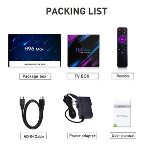 Image 4 - טלוויזיה תיבת אנדרואיד 9.0 Google Play H96 מקס Rockchip 4G 32GB 64GB אנדרואיד טלוויזיה תיבת 2.4/5.0G WiFi Bluetooth 4.0 4K 3D אנדרואיד תיבה