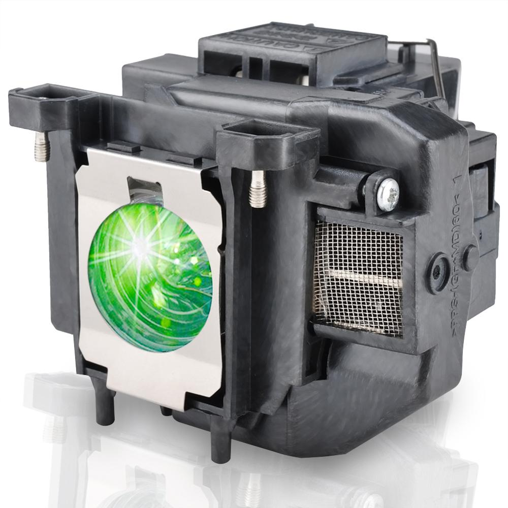 HAPPYBATE ELPLP67 Projector Lamp With Housing For HC710HD/Megaplex MG-50/MG-850HD EB-C250W EB-C15S EB-C05S/EB-W12/EB-C35X/C215S