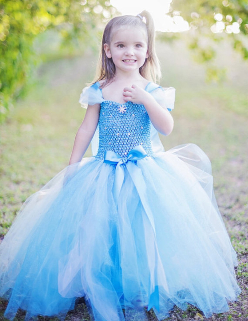 Girls Blue Anna Elsa Princess