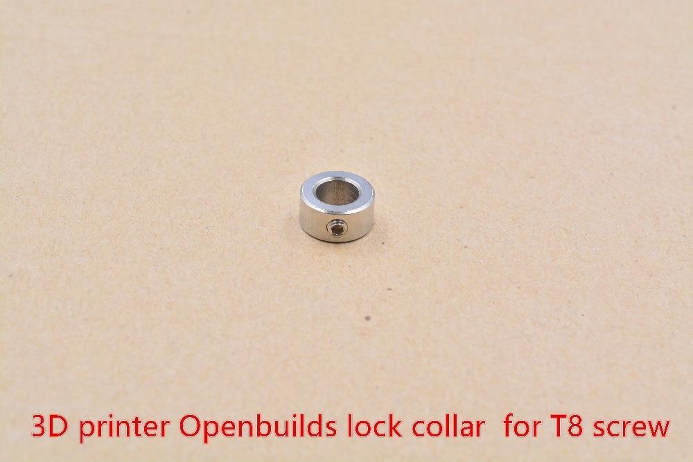 3D принтеры Openbuilds замок воротник T8 кольцо с винтовым креплением углерода сталь изоляции colomni 1 шт