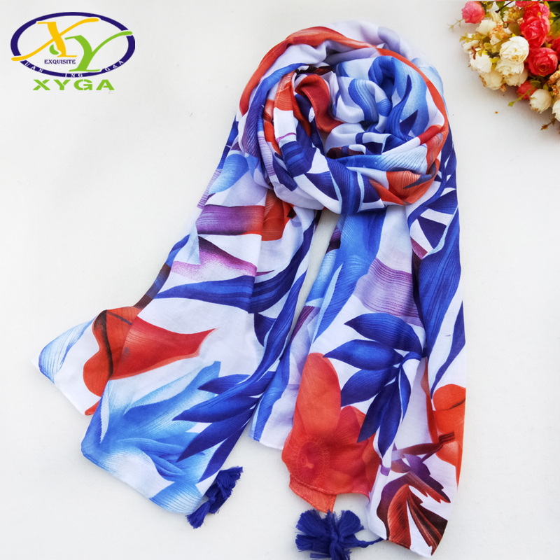 1PC 180*100CM 2016 New Design High Quality Fashion Twill Cotton Women Scarf  Woman Flower Printed Pashminas