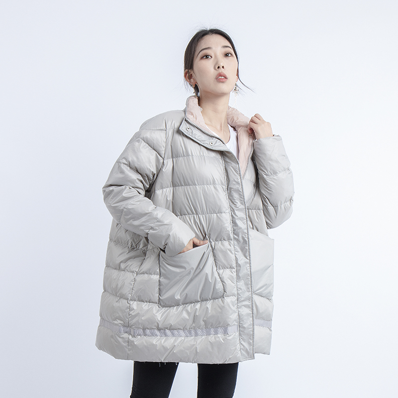 2019 New Fashion Puffer White Duck Down Jacket Women Korean Plus Size A Line Casual Winter Coat Women Loose Clothing
