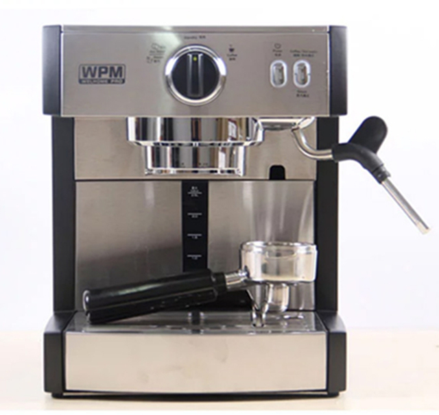 Professional Espresso Coffee Machine 15 Bar Thermoblock Latte Cuccino Maker Stainless Steel Body