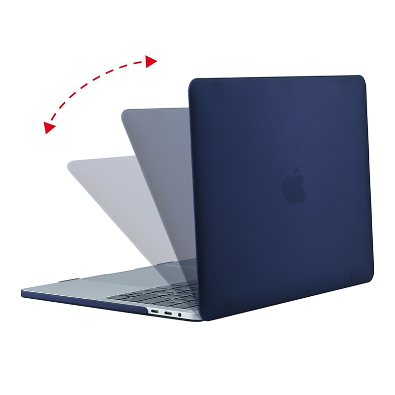 Image 2 - Crystal Matte Frosted Case Cover Sleeve For Macbook Air Retina Pro 13 15 with/out Touch Bar A1706 A1707 A1990 AIR 13 2018 A1932-in Laptop Bags & Cases from Computer & Office