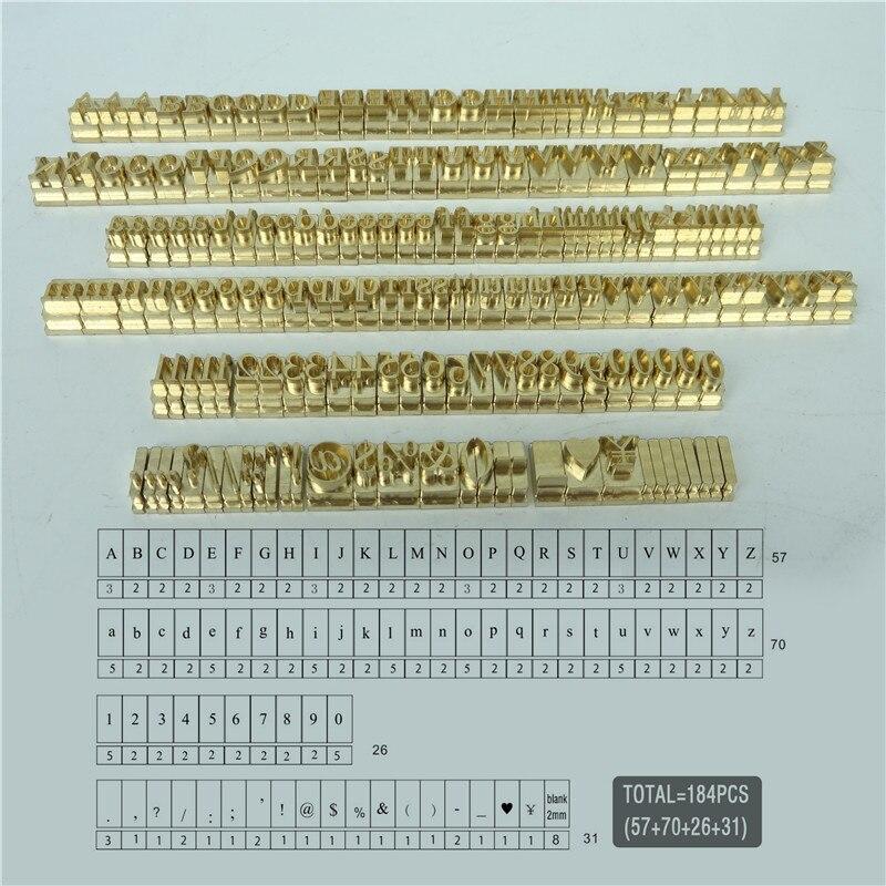 T forma flexível folha de hot stamping letras, 184 pçs/set RCIDOS personalização número/alfabeto/emoticons Hebraico letras de bronze
