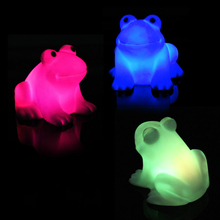 New Frog Energy Magic LED Night Light Cute  Novelty Lamp Changing Colors Colorful for Children Gift