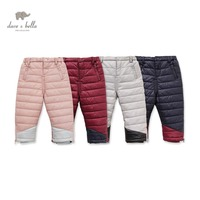 DB2364 Dave Bella Winter Baby Boys Thick Warm Pants Baby Girls Padded Trousers Kids Pants Kids