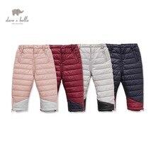 DB2364 дэйв белла зимние брюки для мальчиков новорожденных девочек мягкие брюки дети брюки детские брюки детей брюки