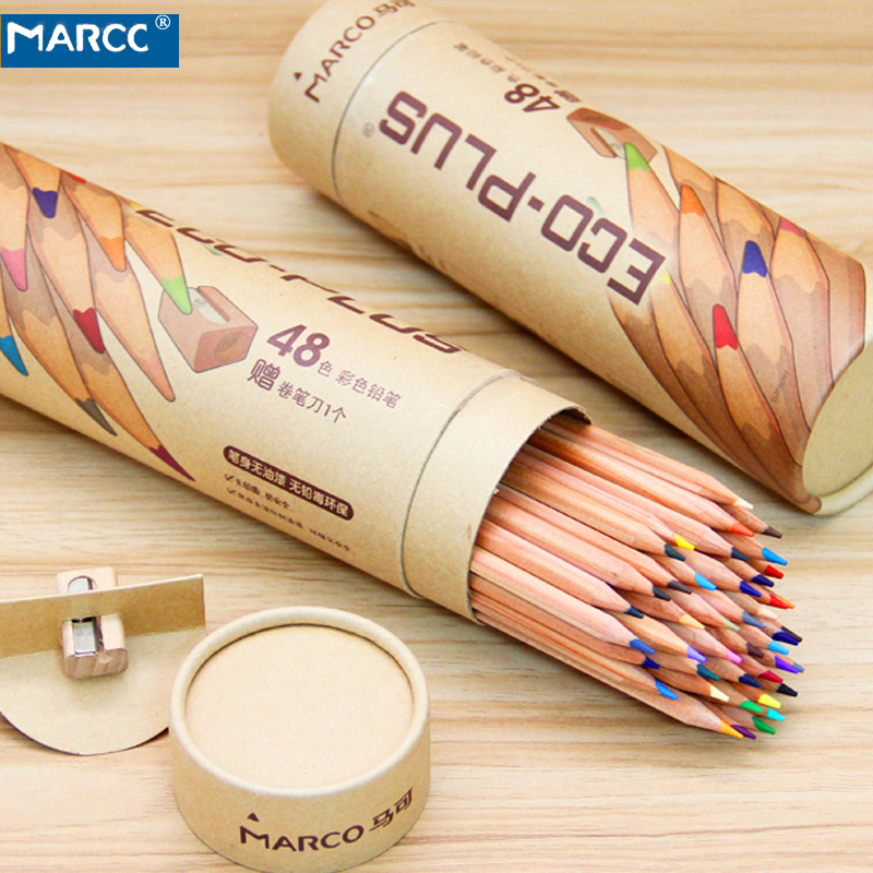 Marco 24 36 48 Colors Color Pencil Wooden Oily pastel colored pencils for kids school art supplies drawing lapices de colores marco raffine fine art colored pencils 24 36 48 colors drawing sketches mitsubishi colour pencil for school supplies