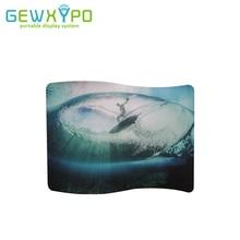 10ft(W)* 7.5ft(H) S 모양 쉬운 패브릭 디스플레이 스탠드 자신의 배너 인쇄, 엑스포 부스 휴대용 광고 배경 벽
