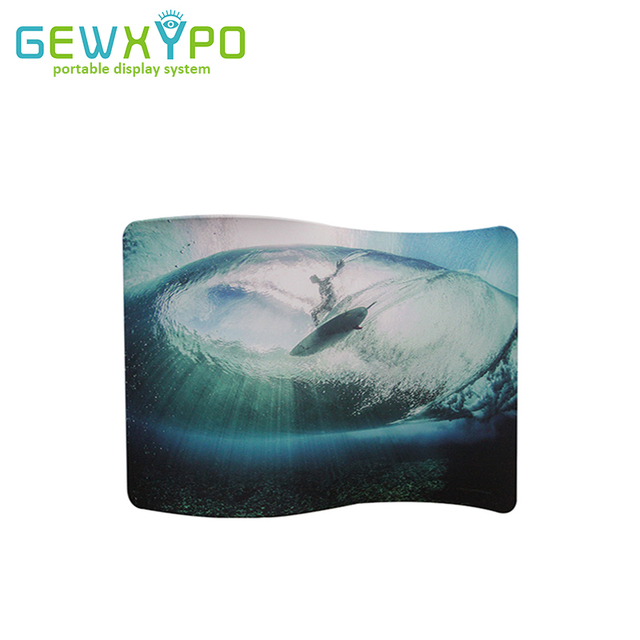 Présentoir facile en tissu, en forme de S 10 pieds (W)* 7,5ft (H) avec votre propre bannière dimpression, mur de toile de fond pour la publicité de Stand Expo