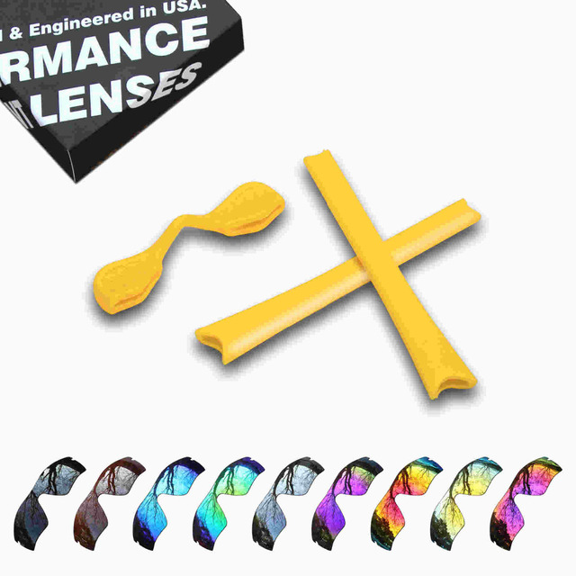 6a5431ac3cd ToughAsNails Resist Seawater Corrosion Polarized Replacement Lens Yellow  Rubber Kit for Oakley Radar Path-Multiple Options