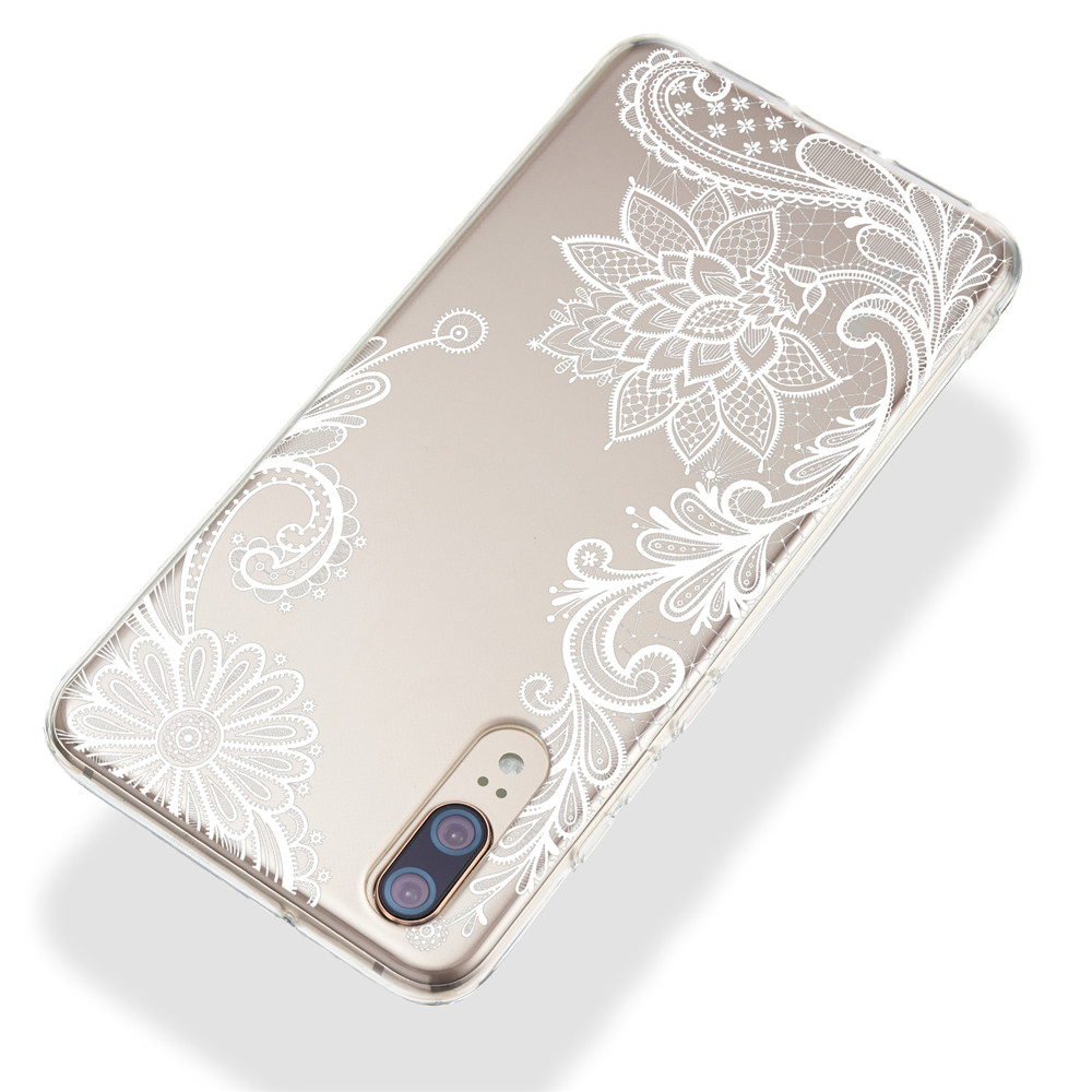 Phone Case sFor Cover Huawei P20 P30 Lite Pro Case Flower Transparent Soft TPU Silicone Cover For Huawei P30 P20 Pro Case Cover in Fitted Cases from Cellphones Telecommunications