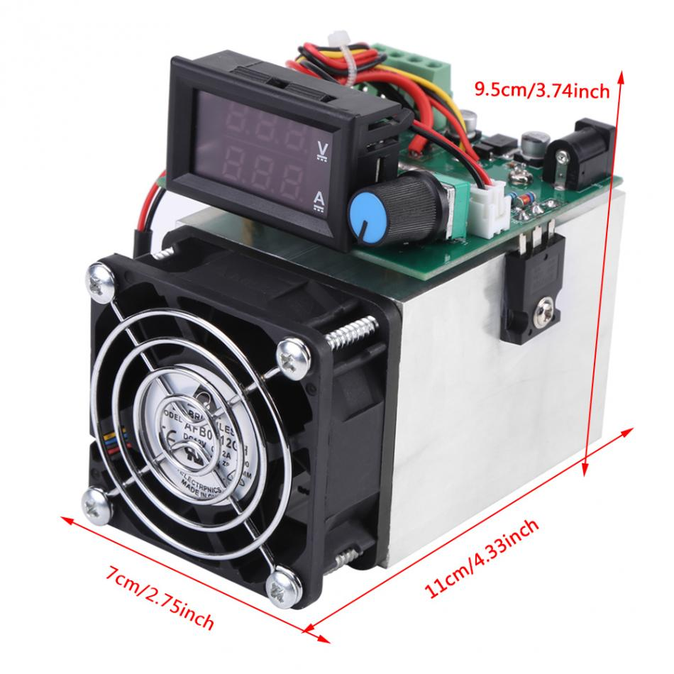 Electronic Load 0-10A 100W DC 12V Discharge Battery Capacity Tester Testing Module High quality new 12v battery load display testing system tester alternator tool with clips