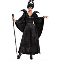Maleficent Halloween party cosplay black witch Adult women Deluxe Maleficent Christening Black Gown 40138