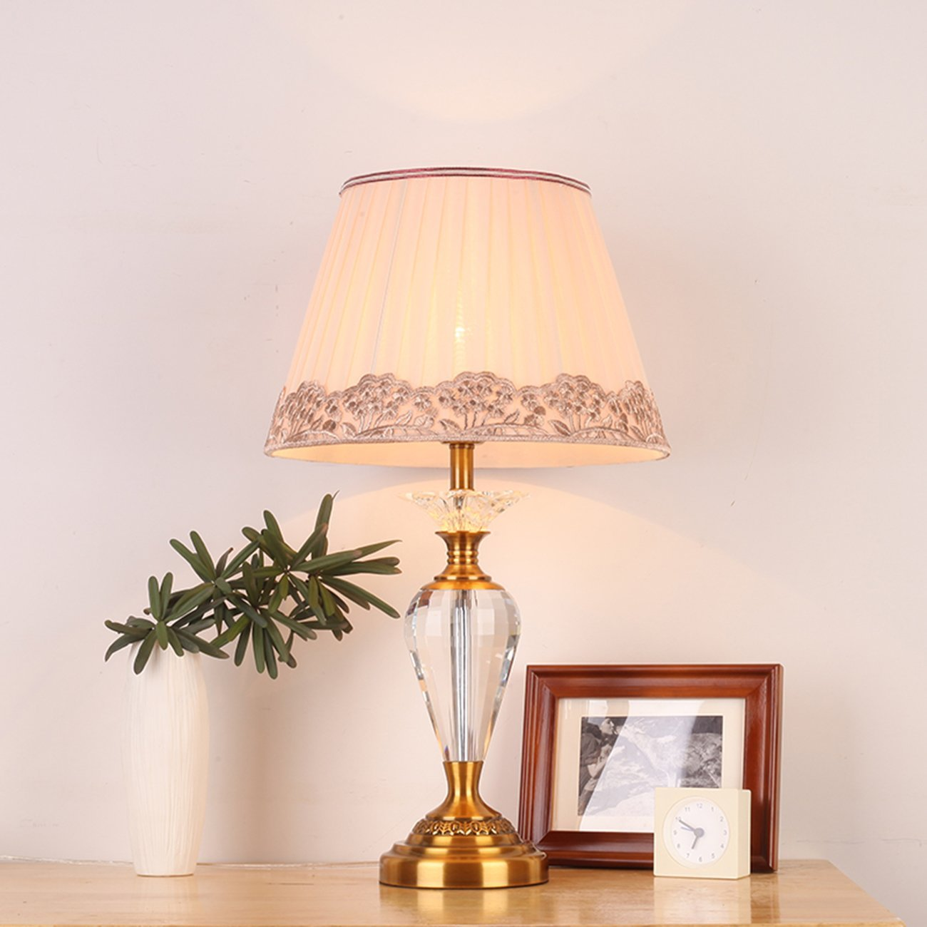 online get cheap crystal table lamps for bedroom aliexpress com ganeed crystal flower table lamps for living room bedroom 33 59cm 13