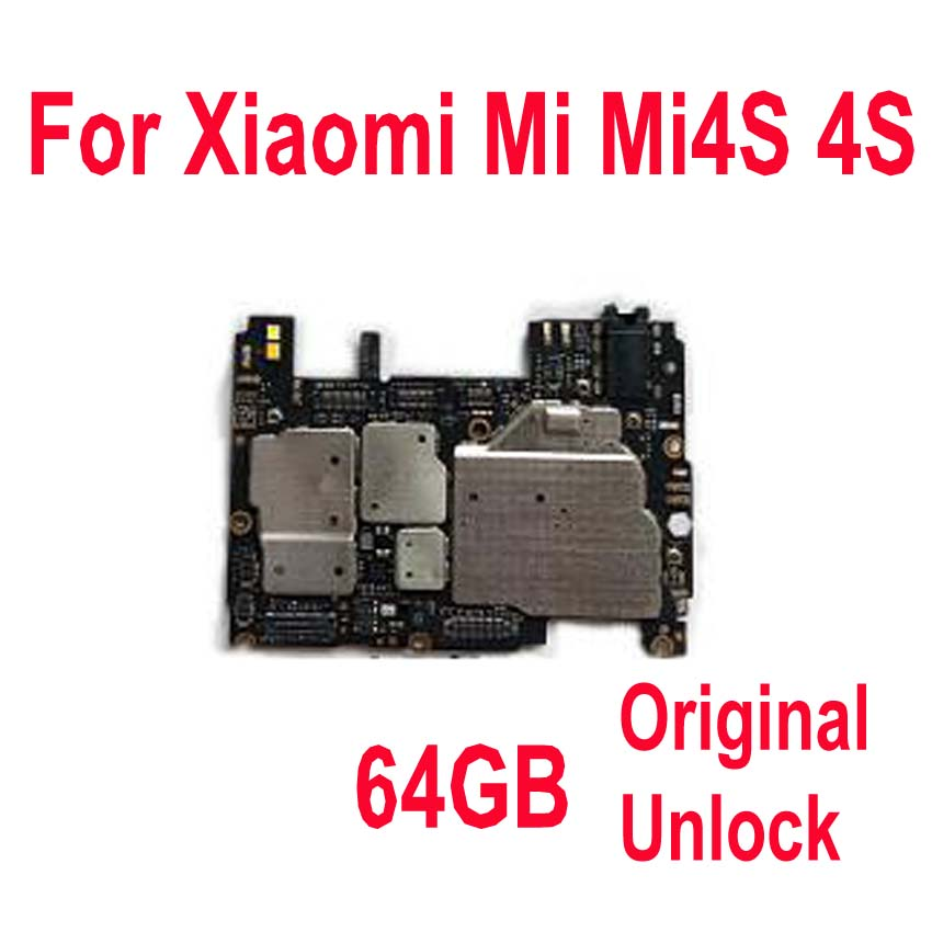 Unlock For Xiaomi Mi4s M4s/4s 64GB Circuit-Board Fee Flex Cbale-Parts Global Original