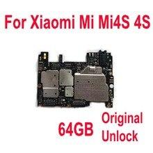 Originele Unlock Global Firmware Moederbord Voor Xiao Mi Mi Mi 4S M4S 4S 64 Gb Moederbord Printplaat vergoeding Flex Cbale Onderdelen