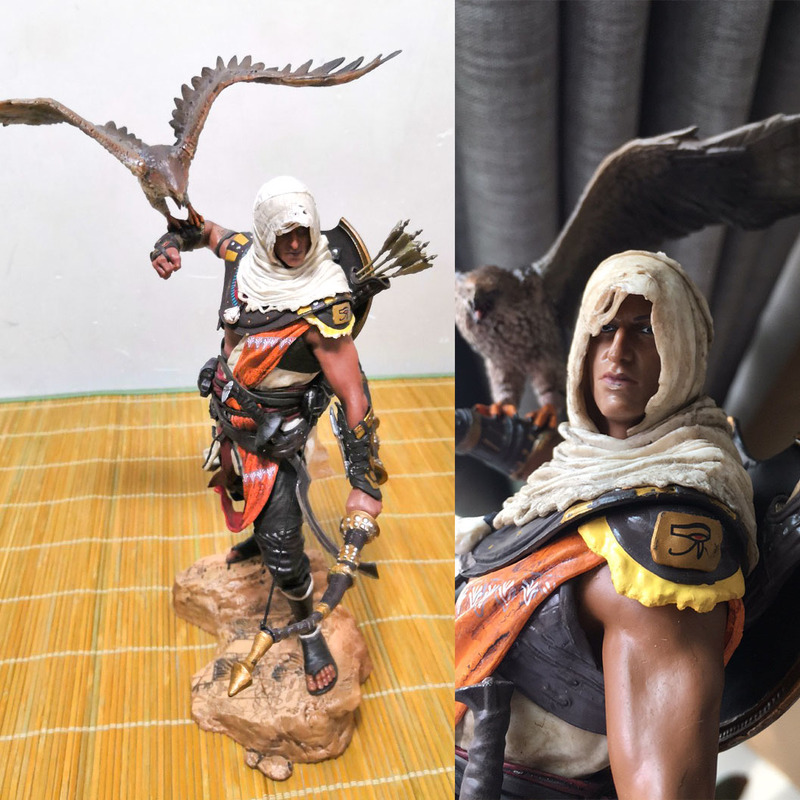 Collectible Model Toys Creed Origini Bayek Aya PVC Action Figure Toy Doll Gift for Children