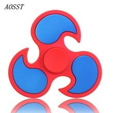 (AOSST) 6 Color High-quality Plastic Hand Spinner Fidget Spinner Finger Spinner Stress Wheel Tri-Spinner Fidget Toy