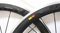 Super Light 700C 50mm 38mm 60mm Clincher Alloy Brake Carbon Wheels 23mm Width Road Bike Wheels