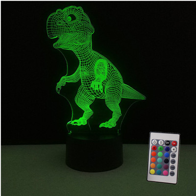 3D Illusion Dinosaur Halloween Mask 7 Color Led Decoration Animal Light Up Glow In The Dark Toys Dinosaur Collection Boys GiftsNovelty & Gag Toys