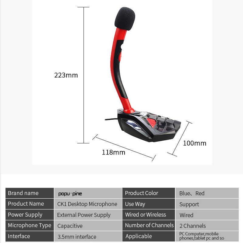 Draagbare Bedrade Microfoon voor Computer Professionele Karaoke Audio Studio Microfoon voor PC Schakelaar Record Mic voor PC Record