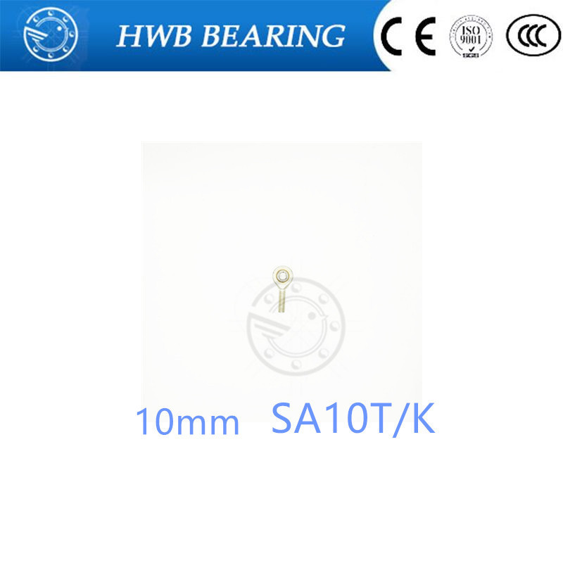 10mm Rod End Joint Bearing SA10T/K POSA10 SA10TK M10*1.5mm male metric right hand threaded rod end joint bearing silver male left hand 12mm metric threaded rod end joint spherical plain bearing pack of 2