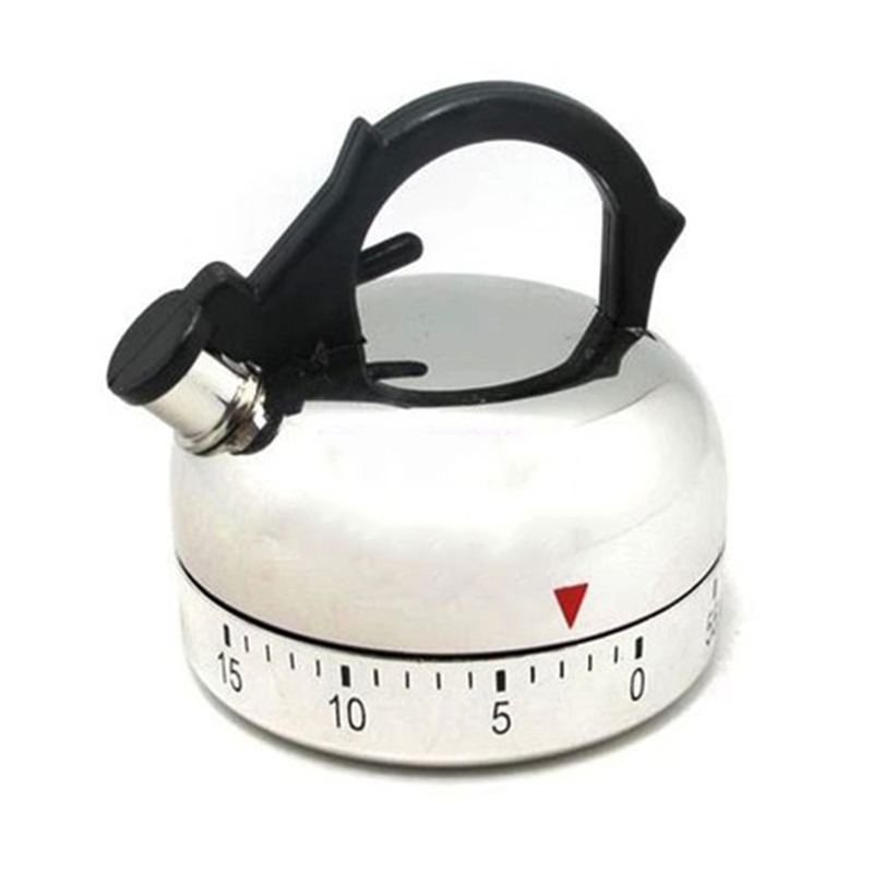 Mechanical Timer Family Care Kettle Shape ABS Plastic 60-Minute No Battery Outside Hiking Timer