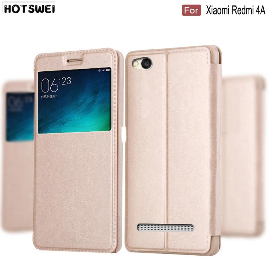HOTSWEI Flip-Cover 4a-Cases Global-Version Xiaomi Redmi Fashion For 32GB Window-View