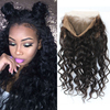 360 Lace Frontal Closure Pre Plucked 8A Full Lace Band Frontal Brazilian Virgin Hair Loose Wave Lace Frontal Bleached Knots