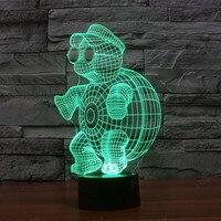 3D Lichten USB Power 7 Kleuren Verbazingwekkende Optische Illusie LED Lamp Nachtlampje voor Kids Baby