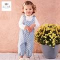 DB4486 дэйв белла весна девочка комбинезоны детские комбинезоны девушки комбинезоны детские милые комбинезоны точки печатных комбинезоны
