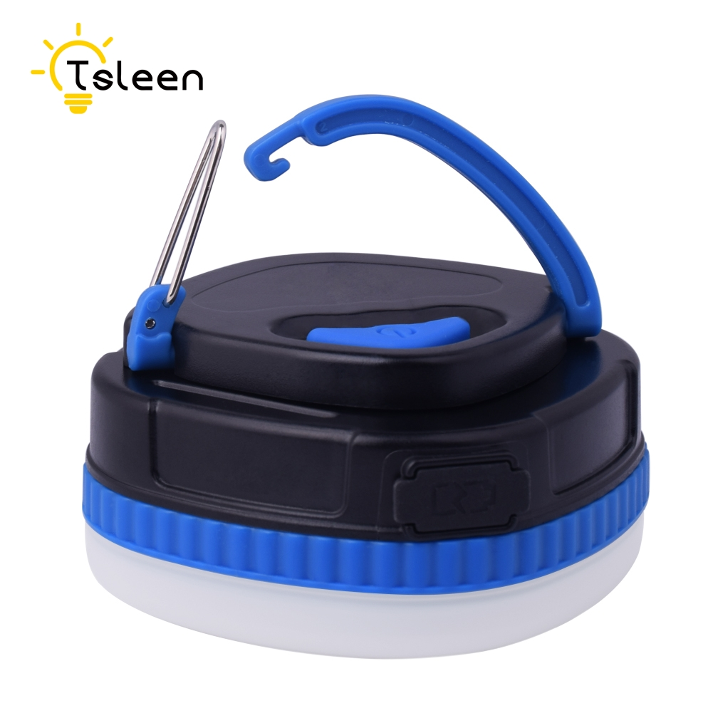 TSLEEN Mini Portable Camping Lights 150 Lumens LED Camping Lantern Tents lamp Outdoor Hiking Night Hanging lamp USB Rechargeable