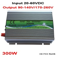 300W Grid Tie Inverter MPPT Function 20-60VDC input 110V 230VAC Micro Grid Tie Pure Sine Wave Inverter 20V 60V to 110V 220V