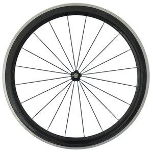 Колеса из углеродного волокна для шоссейного велосипеда, легированные колеса, переднее колесо 700C, клинчер, колесная установка, алюминиевая ...