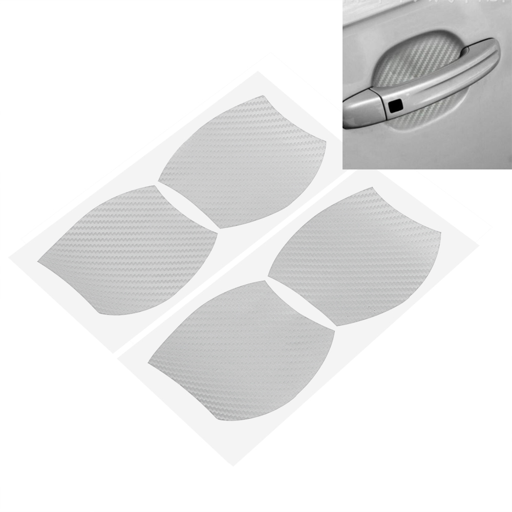 4Pcs/set Auto Door Handle Scratch Protector Car Sticker and Decals Door Bowl Protection Film Body Decoration Car Styling yi 221 door guard protector decorative sticker for auto car white 4 pcs