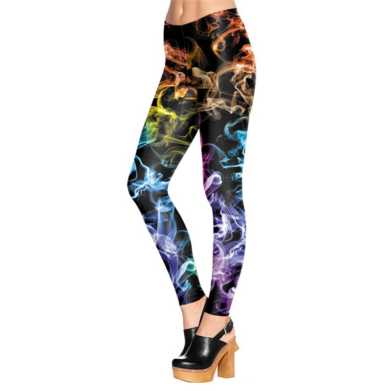 NADANBAO wholelsales New Fashion Women leggings 3D Printed color legins Ray fluorescence leggins pant legging for Woman 45