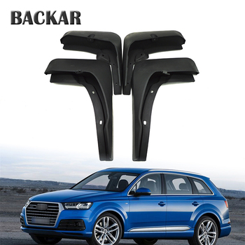 Backar Car Front Rear Mudguards For 2016 2017 Audi Q7 Mud Flaps Accessories Splash Guard Fenders 1Set/4Pcs Mudflaps